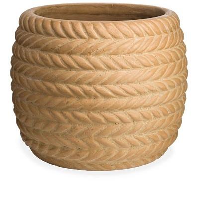 VivaTerra Woven Clay Planter - Terracotta