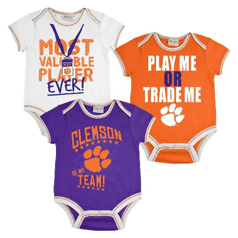 Clemson Tigers Boy 3 pc Body Suit - image 1 of 4