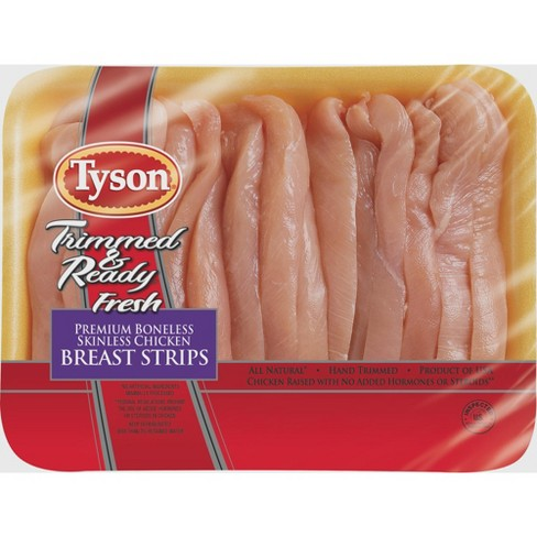 Tyson Trimmed & Ready Chicken Breast Strips - 0.48-1.98lbs - priced per lb - image 1 of 2