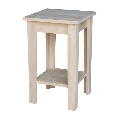 Solid Wood Shaker Plant Stand Unfinished - International Concepts