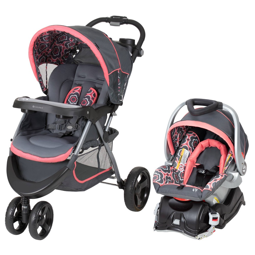 Baby Trend Nexton Travel System - Coral Floral, Orange Shade