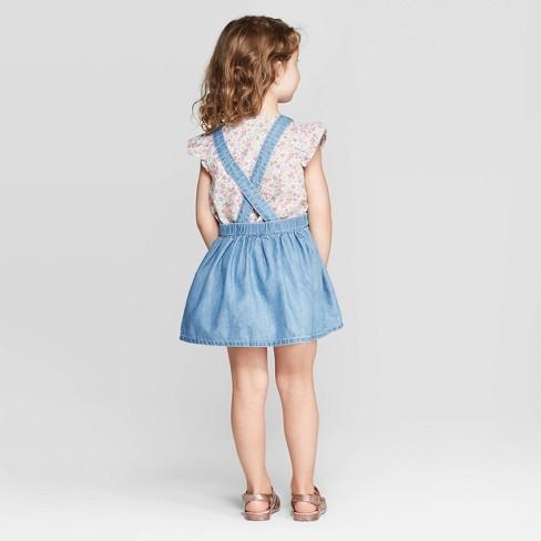 e1e1912c2 OshKosh B'gosh Toddler Girls' Pinafore - Blue : Target