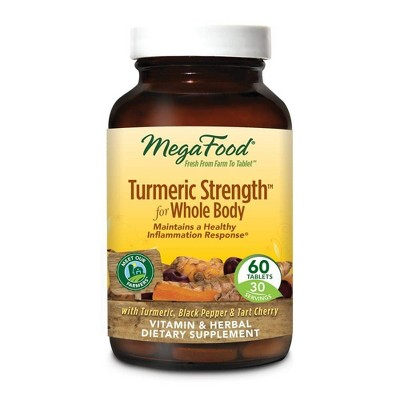 MegaFood Turmeric Strength Whole Body Vegan Tablets - 60ct