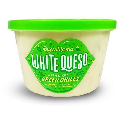 Queso Mama White Queso with Green Chiles - 12oz