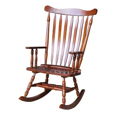 Merveilleux Rocking Chair Solid Wood Cherry   International Concepts
