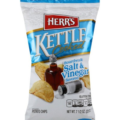 HERR'S Kettle Cooked Salt & Vinegar Potato Chips - 8.5oz