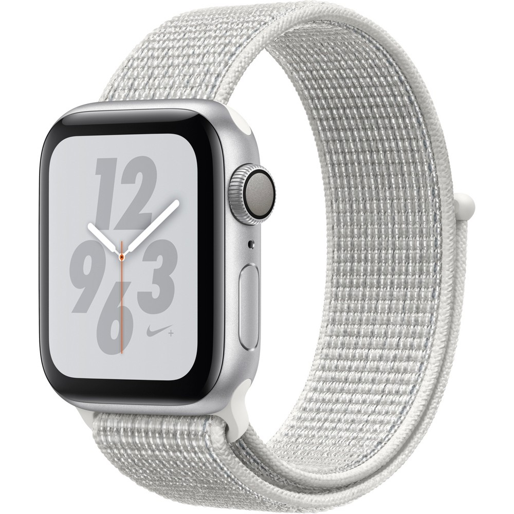 Apple Watch Series 4 Nike+ Gps 40mm Silver Aluminum Case with Nike Sport Loop - Summit White, White Sport Loop