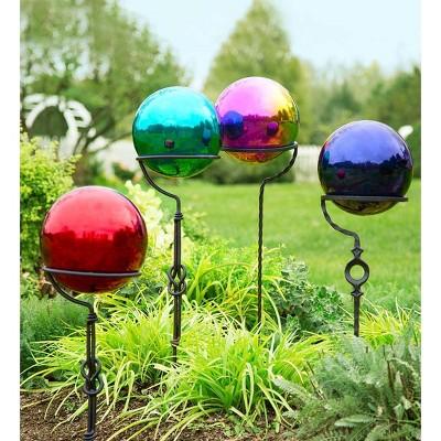 Stainless Steel Gazing Ball Garden Decor   Plow U0026 Hearth