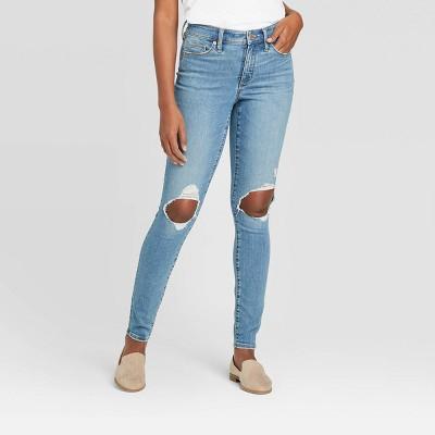 Women's High-Rise Skinny Jeans - Universal Thread™ Light Blue