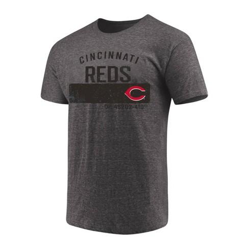 MLB Cincinnati Reds Men's Neutralize Gray Triblend T-Shirt - image 1 of 3