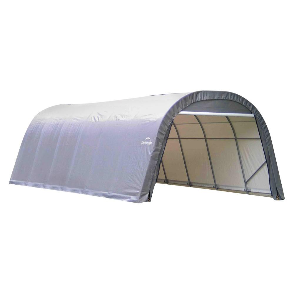 13' X 28' X 10' Round Style Shelter - Gray - Shelterlogic