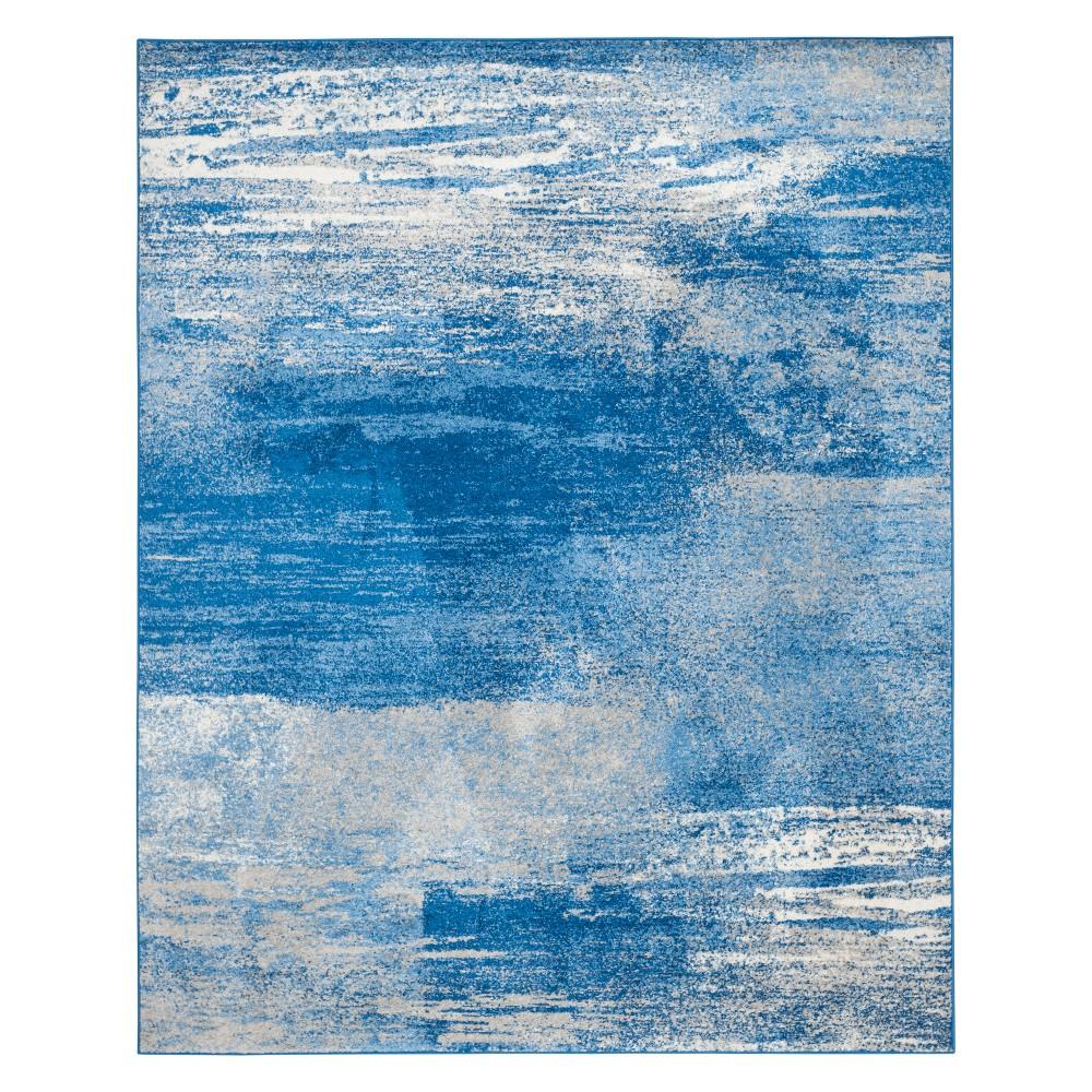 12'X18' Spacedye Design Area Rug Silver/Blue - Safavieh