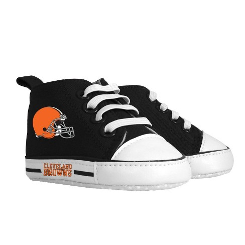 NFL Cleveland Browns Baby High Top Sneakers - 0-6M - image 1 of 1
