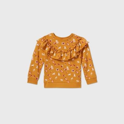 Toddler Girls' Printed Ruffle Sweatshirt - art class™