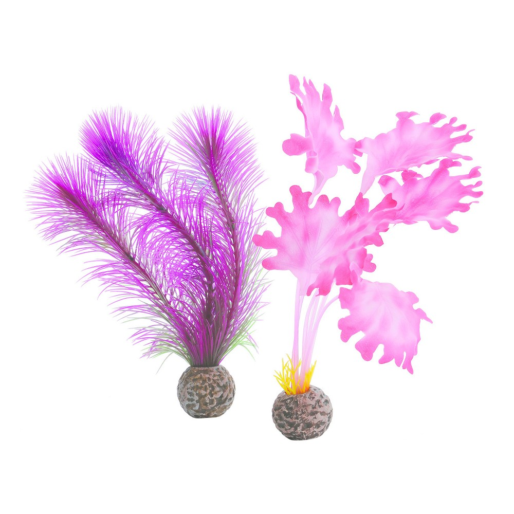 biOrb Kelp Set Aquarium Artificial Plants - Pink - S