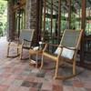 Dunham Solid Teak & Wicker Patio Rocking Chair - Cambridge Casual - image 2 of 4