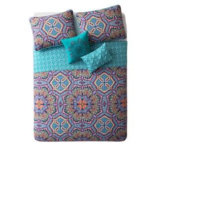Aqua Yara Quilt Set (Full/Queen)5pc - VCNY®