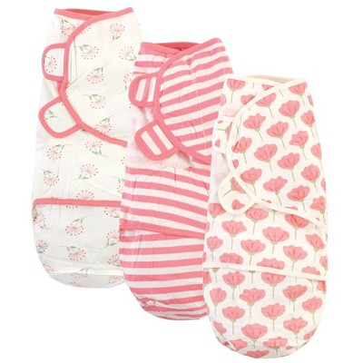 Touched by Nature Unisex Baby Organic Cotton Swaddle Wraps - Tulip 0-3 Months