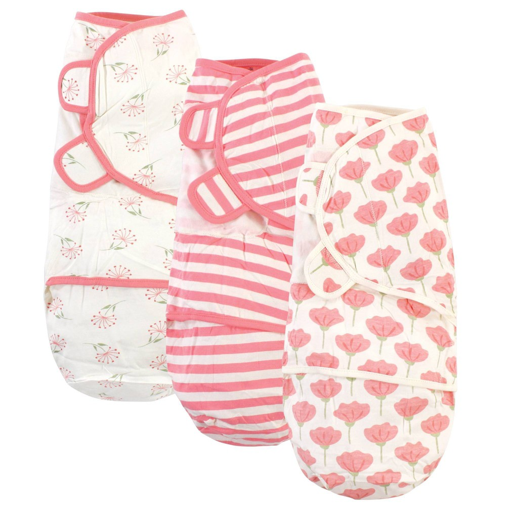Touched By Nature Unisex Baby Organic Cotton Swaddle Wraps Tulip 0 3 Months