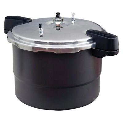 GraniteWare 20 Quart Hard Anodized Aluminum Pressure Canner - Black/Silver