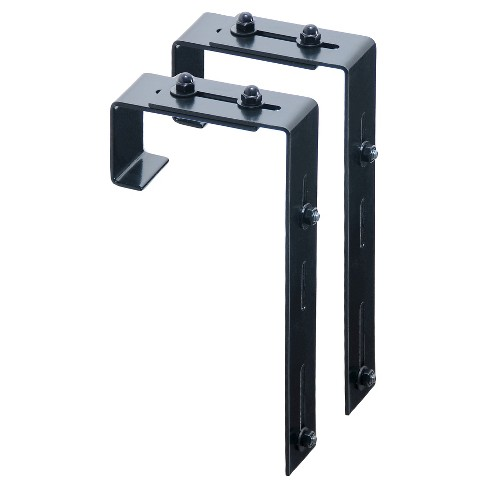 2 Pack Adjustable Deck Rail Bracket - Black - Mayne - image 1 of 2