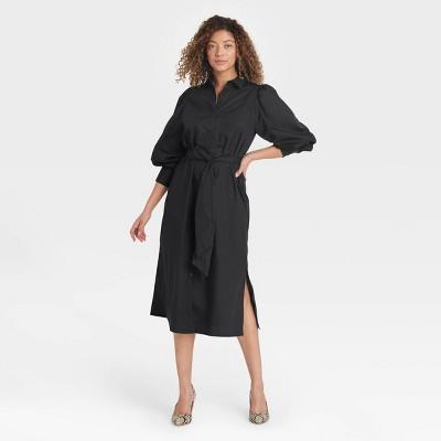 Women's Long Sleeve High Cuff Shirtdress - A New Day™