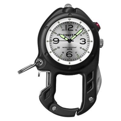 Men's Dakota Bottle Opener and LED Light Clip Watch - Black