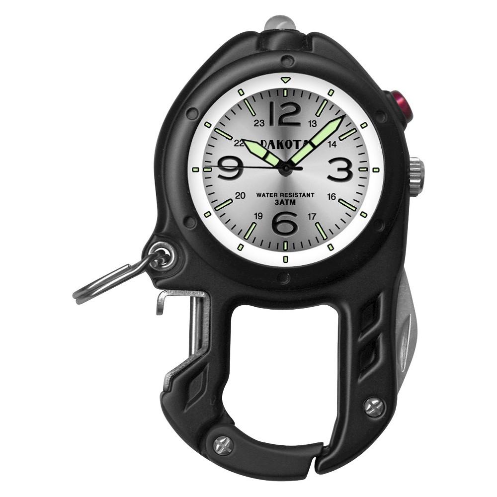 Image of Men's Dakota Bottle Opener and LED Light Clip Watch - Black, Size: Small