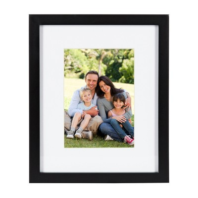 """8"""" x 10"""" Matted to 5"""" x 7"""" Gallery Tabletop Frame Black - DesignOvation"""