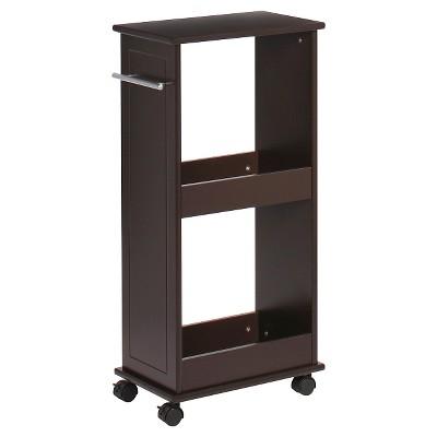 Rolling Side Cabinet with Shelves Espresso - RiverRidge