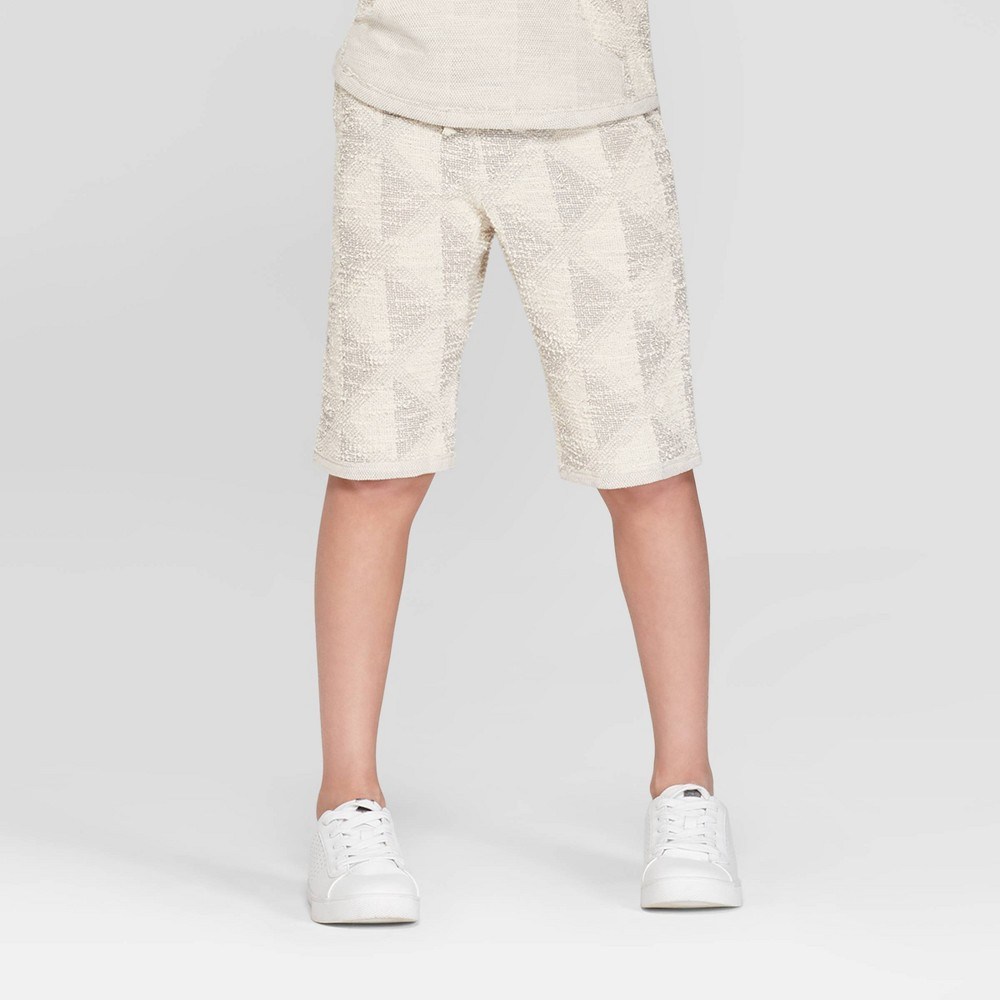 Boys' Textured Shorts - art class Cream XL, White