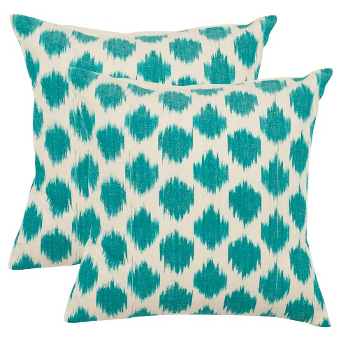 Fantastic Polka Dots Throw Pillow Safavieh Machost Co Dining Chair Design Ideas Machostcouk