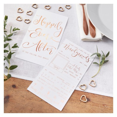 """""""Advice For The Newlyweds"""" Cards Rose Gold"""