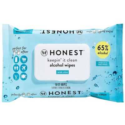 The Honest Company Alcohol Hand Sanitizing Wipes - 50ct