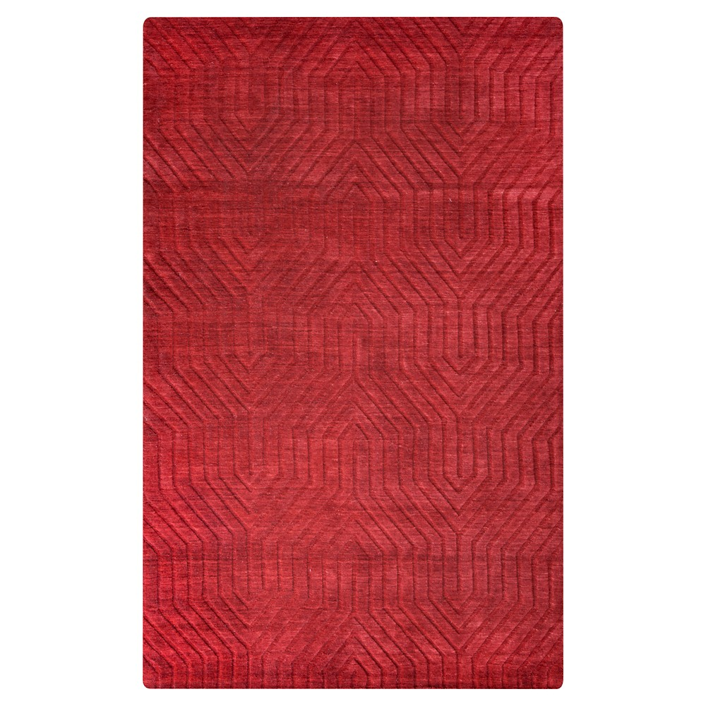 9'X12' Solid Area Rug Red - Rizzy Home