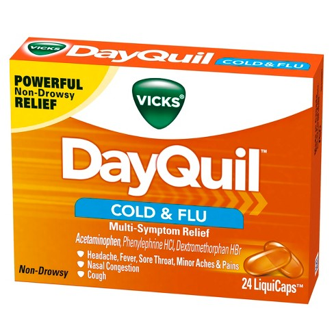 Vicks DayQuil Cold & Flu Multi-Symptom Relief LiquiCaps - 24ct - image 1 of 2