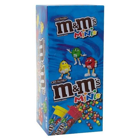M M s Minis Milk Chocolate Candies Tubes - 1oz 24ct   Target de8ea2949c4e8