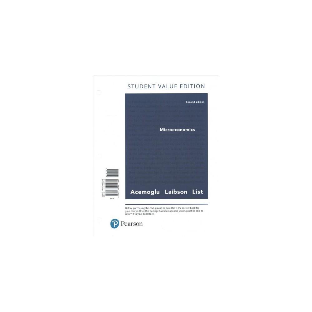 Microeconomics - by Daron Acemoglu & David Laibson & John List (Paperback)