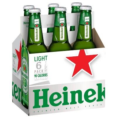 Heineken Light Lager Beer - 6pk/12 fl oz Bottles