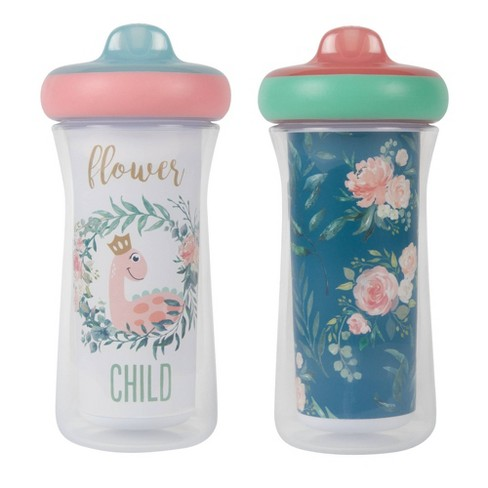 The First Years 2pk Insulated Sippy Cups - 12+m - Pink - image 1 of 4