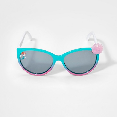 Girls' Disney The Little Mermaid Sunglasses - Turquoise One Size - image 1 of 2