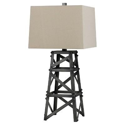 Cal Lighting 150W Tower Metal Table Lamp