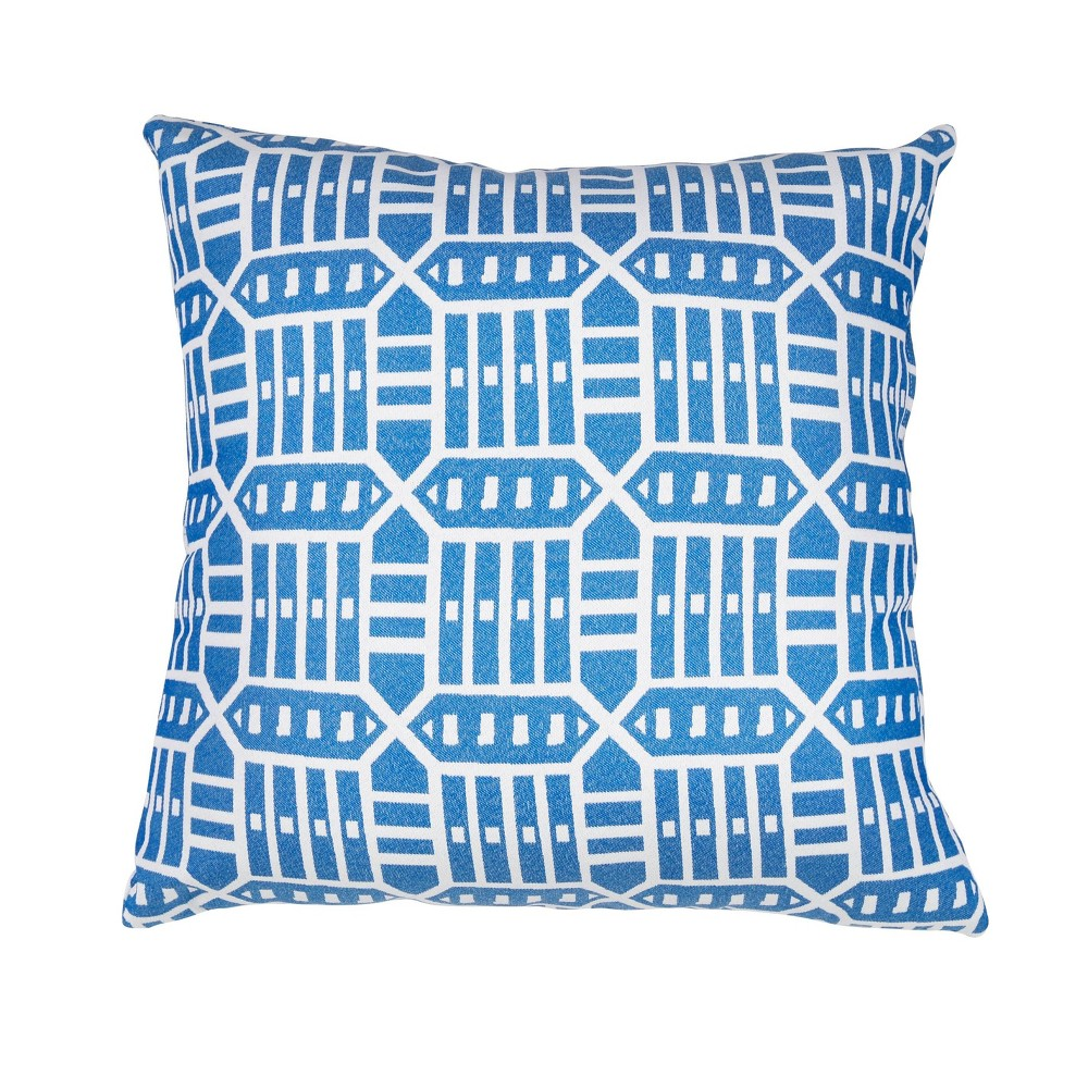 Pacifica Lounge Throw Pillow Roland Blue Astella