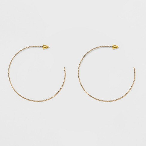 Textured Open Hoop Earrings A New Day Gold