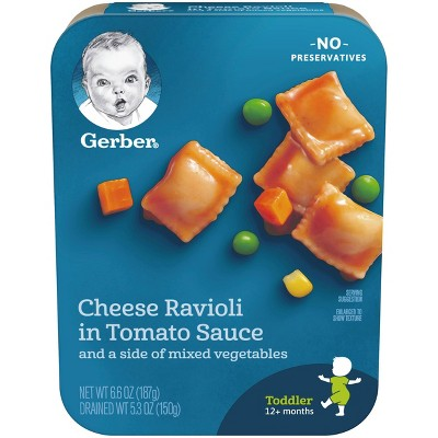 Gerber Lil' Entrees Cheese Ravioli in Tomato Sauce with Mixed Vegetables - 6.6oz
