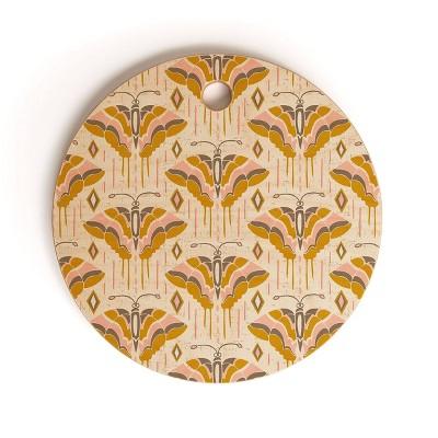 "13"" Wood Heather Dutton La Maison des Papillons Cutting Board - society6"