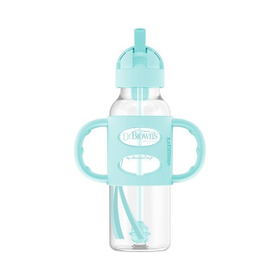 Dr. Brown's Options+ Sippy Straw Bottle with Silicone Handle – Aqua