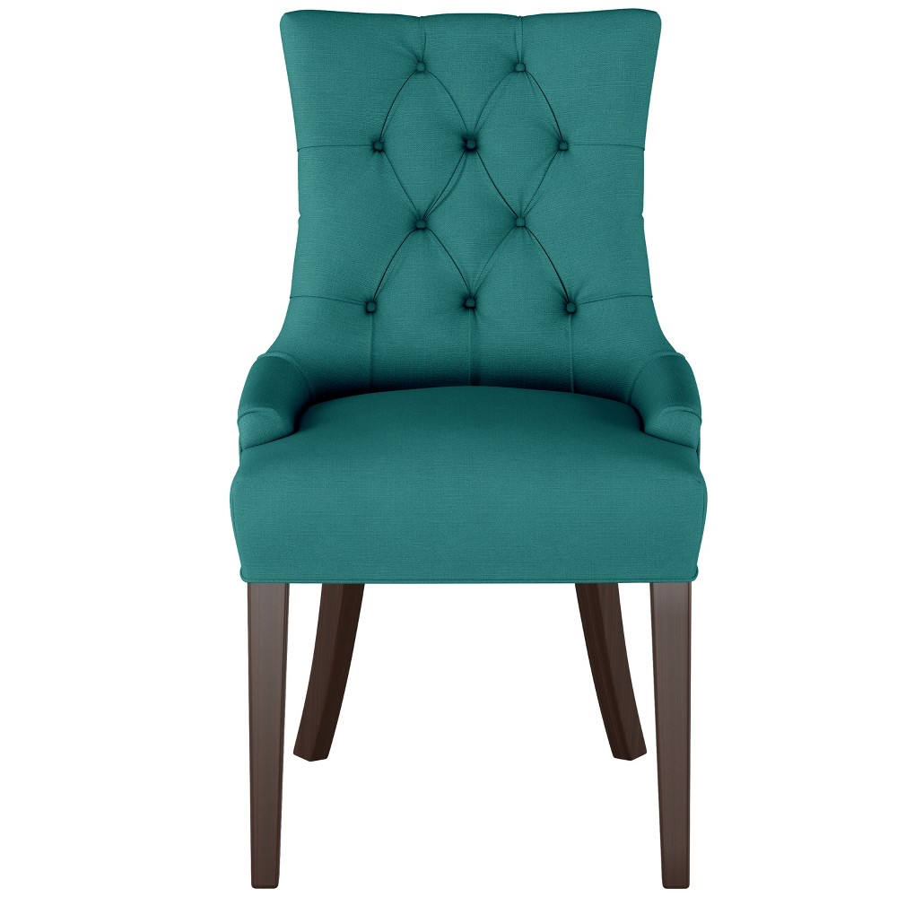 English Arm Dining Chair Teal Linen - Threshold