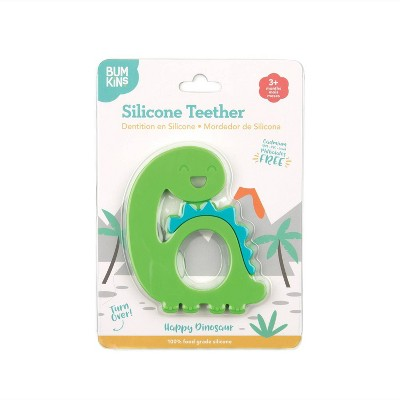Bumkins Silicone Teether Dinosaur