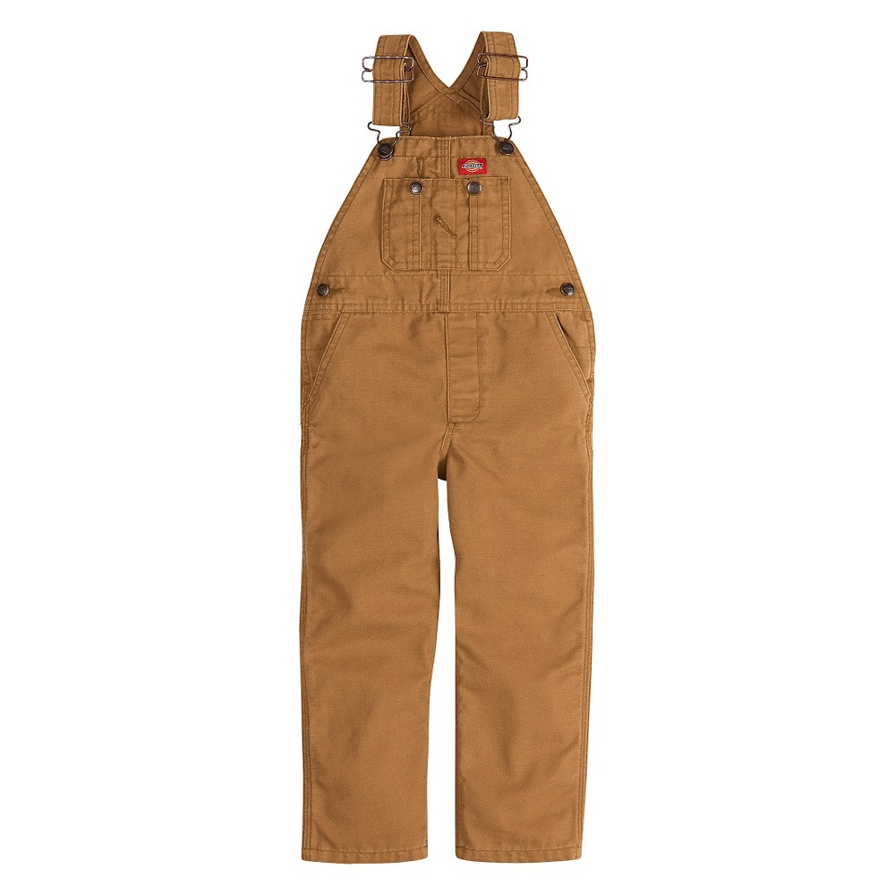 Dickies Boys' Overalls - Brown M, Size: 5-6